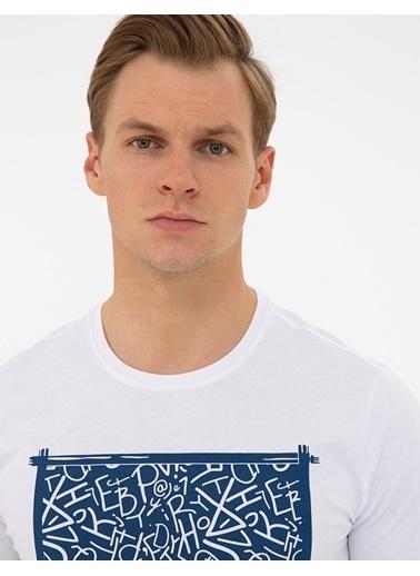 Pierre Cardin G021Sz011.000.1308656.Vr013 T-Shirt Beyaz